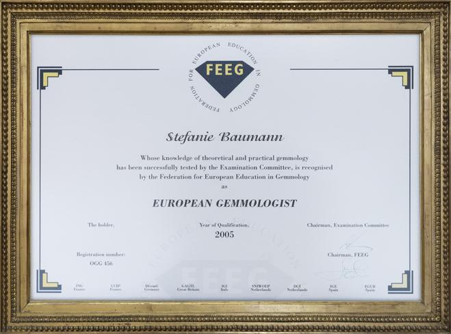 Stefanie Baumann - European Gemmologist